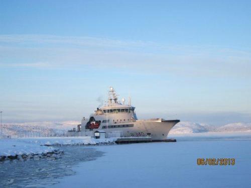 Marineschip bij Kirkenes